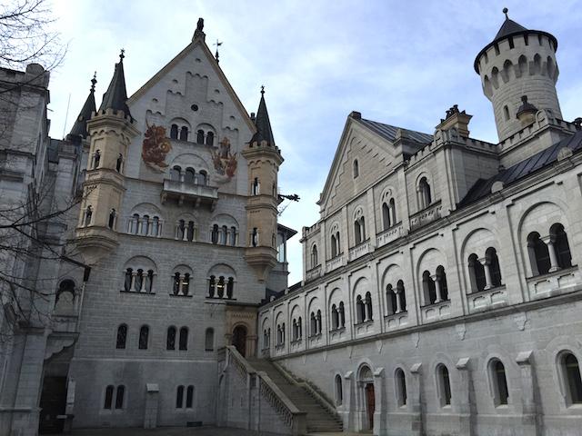 Courtyard of Neuschwanstein Castle