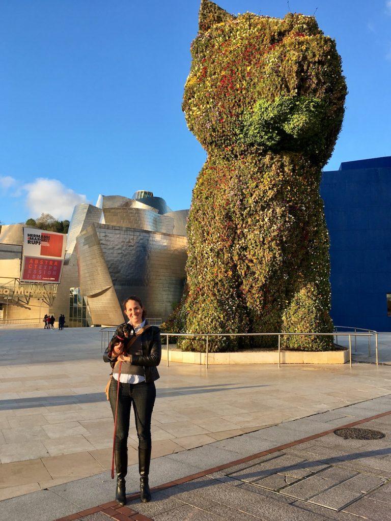 Dog-friendly Spain: Take a puppy selfie in Bilbao!