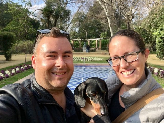 Parque de Maria Luisa with a Dog
