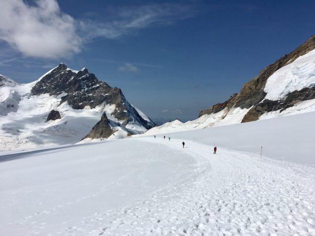 Path to Mönchsjochhütte