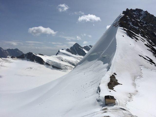 View from Mönchsjochhütte