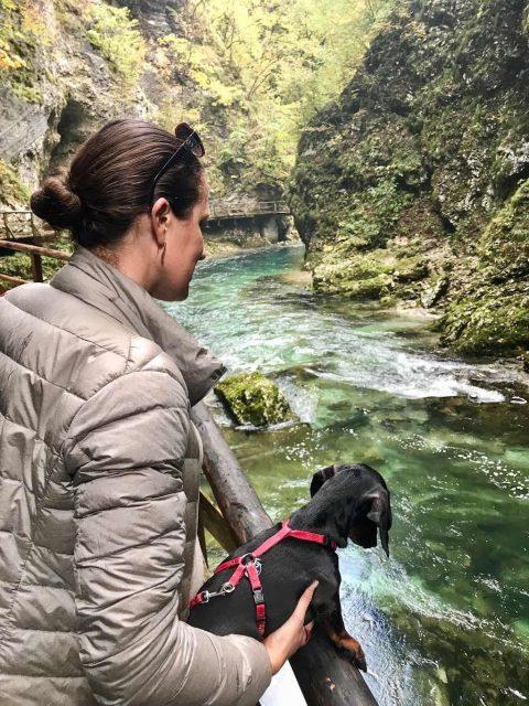 Vintgar Gorge with Dog