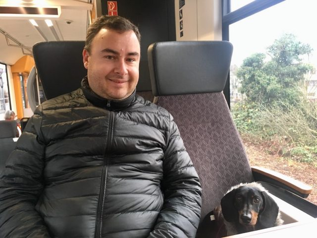 Travelling with a dog in Europe: On the train