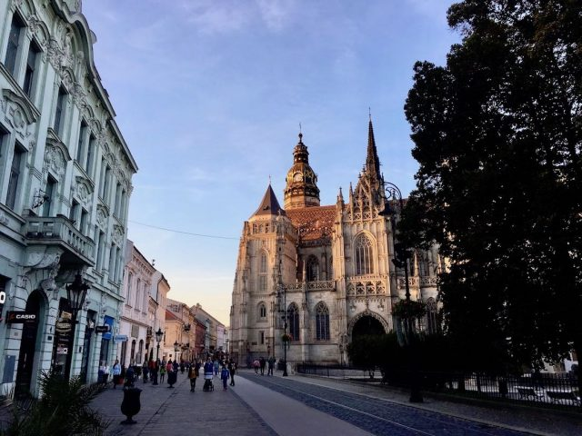 Late afternoon in Kosice's main square