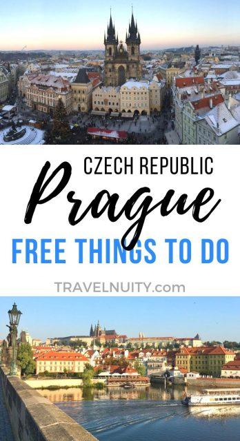 Prague Free Things to Do pin