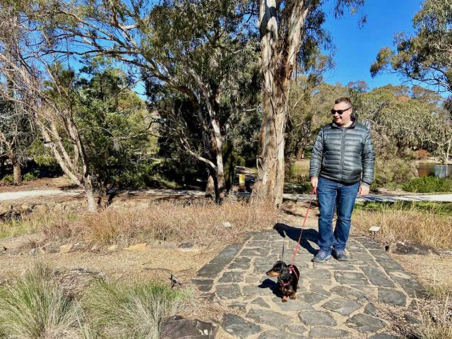 Orange Botanic Gardens dogs