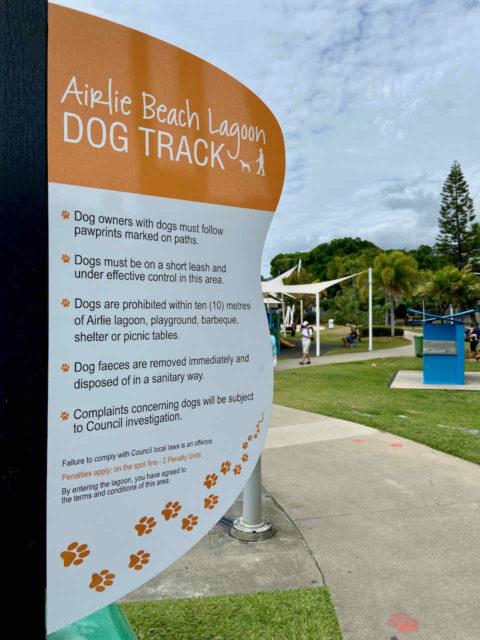 Airlie Beach Lagoon Dog Track