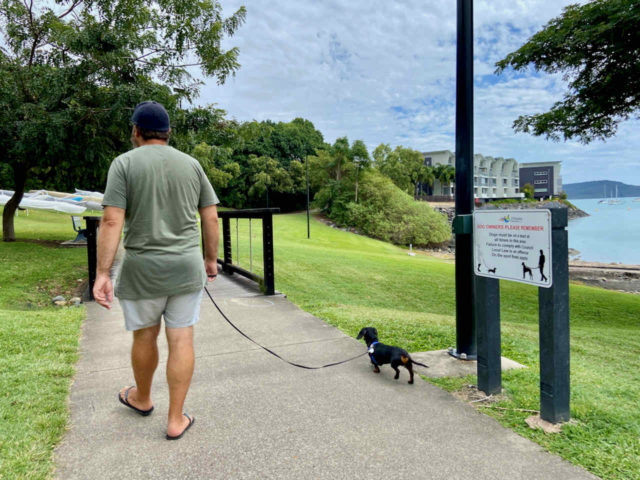 Bicentennial Way with Dog