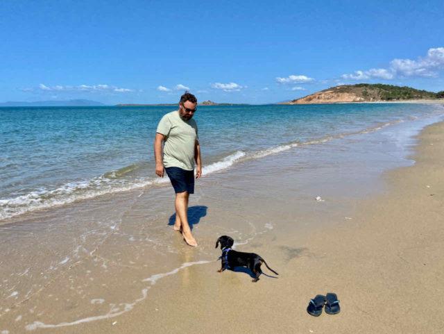Kings Beach with Dog